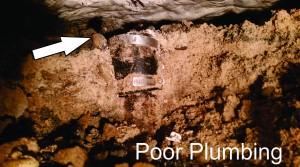 poor plumbing